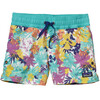 Patagonia Girls Costa Rica Baggies Shorts Neo Tropics Lite: Howling Turquoise